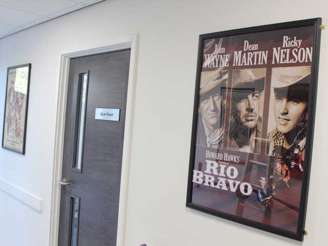 Rio Bravo Movie Poster Outside The Quiet Room